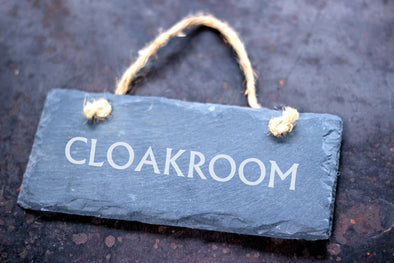 Cloakroom Slate Sign - PersonalisedGoodies.co.uk