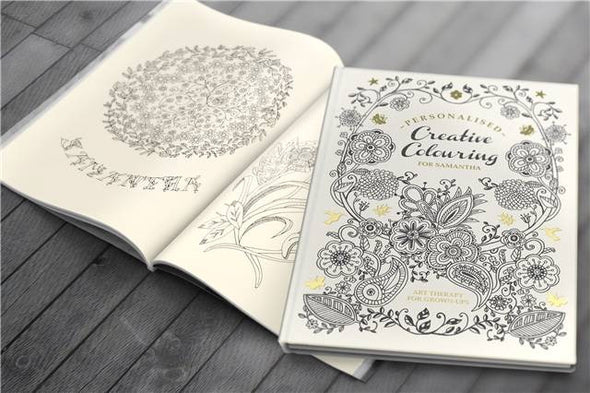 Personalised Creative Colouring Book for Adults - PersonalisedGoodies.co.uk