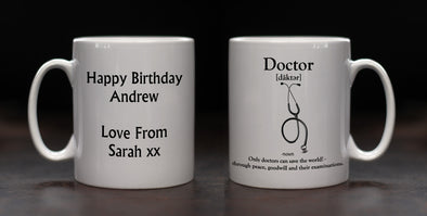 Personalised Doctor Definition Mug - PersonalisedGoodies.co.uk