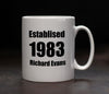 Personalised 'Established' Mug - PersonalisedGoodies.co.uk