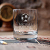 Personalised Football Glass Tumbler