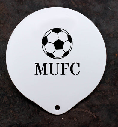 Personalised Football Coffee Stencil - PersonalisedGoodies.co.uk