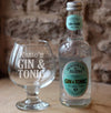 Personalised Gin & Tonic glass and Fentimans bottle
