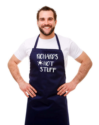 Personalised 'Hot Stuff' Apron