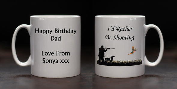 Personalised I'd Rather be Shooting Mug - PersonalisedGoodies.co.uk