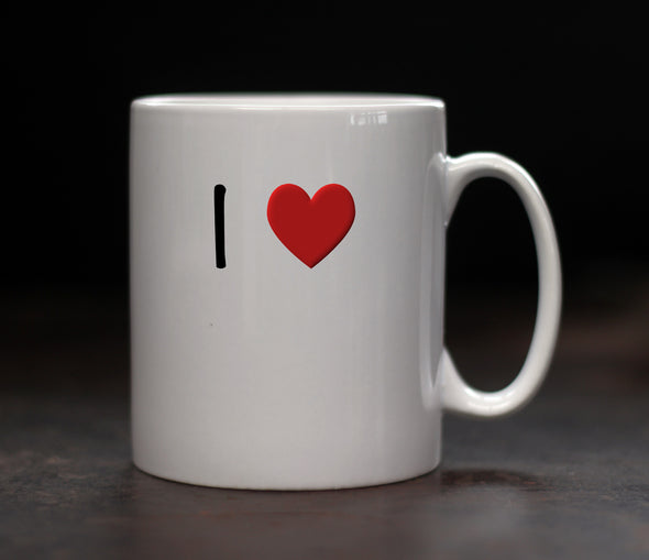 Personalised I love Mug - PersonalisedGoodies.co.uk