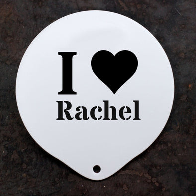 Personalised 'I love' Stencil Message - PersonalisedGoodies.co.uk