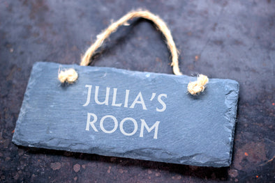 Personalised Bedroom Slate Sign - PersonalisedGoodies.co.uk