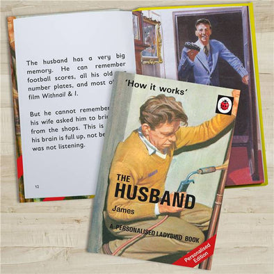 Personalised Ladybird Book 'How it Works' The Husband
