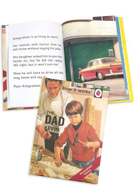 Personalised Ladybird Book, How it Works series, on Being a Dad 'The Dad' - PersonalisedGoodies.co.uk
