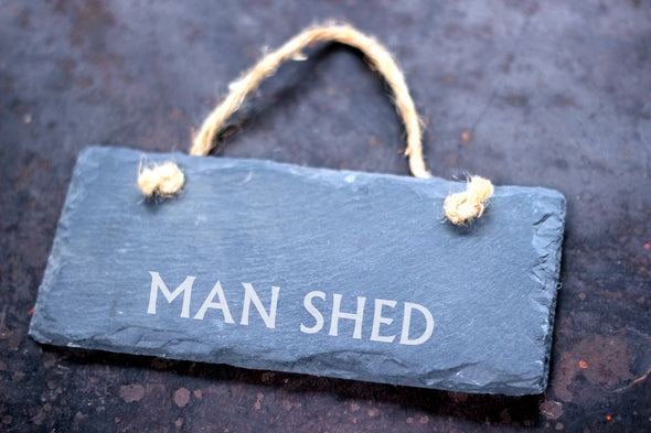 Personalised Man Shed Slate Sign - PersonalisedGoodies.co.uk
