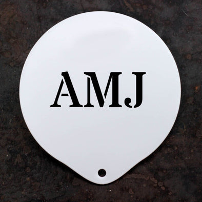 Personalised Monogram Coffee Stencil - PersonalisedGoodies.co.uk