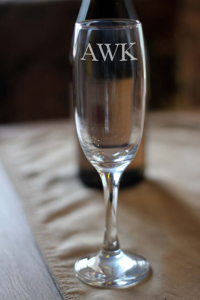Personalised Monogram Champagne Wine Glass - PersonalisedGoodies.co.uk