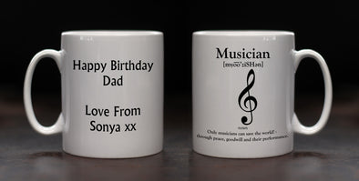 Personalised Musician Definition Mug - PersonalisedGoodies.co.uk
