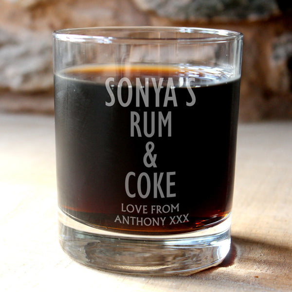 Personalised Rum and Coke Tumbler - PersonalisedGoodies.co.uk