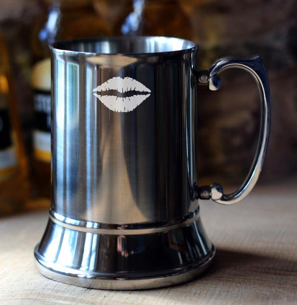 Personalised 'Valentine Lips' Tankard