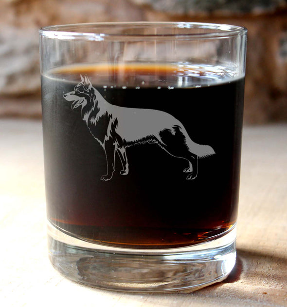 Personalised Alsatian/German Shepherd Whisky Tumbler - PersonalisedGoodies.co.uk