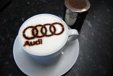 Personalised Logo Coffee Stencil