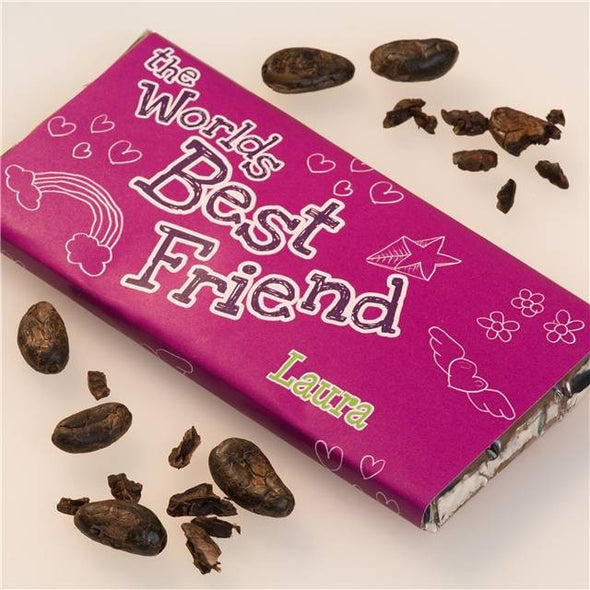 Personalised World's Greatest Friend Chocolate Bar - PersonalisedGoodies.co.uk
