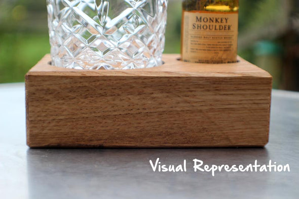 Engraved Oak Single Tumbler and Monkey Shoulder Scotch Whisky (includes tumbler)