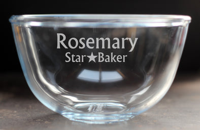 1 Litre Personalised Star Baker Pyrex Bowl - PersonalisedGoodies.co.uk