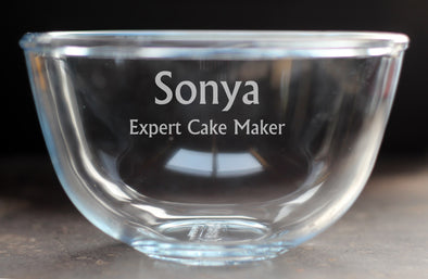 1 Litre Personalised Pyrex Bowl - PersonalisedGoodies.co.uk