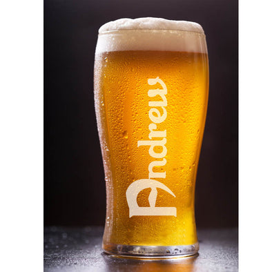 Personalised Calsberg font Pint Beer Glass