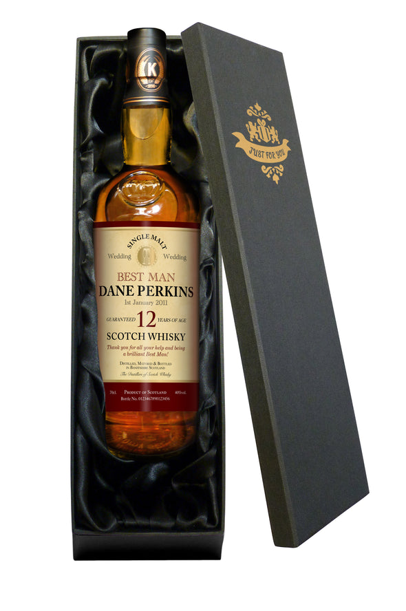 Personalised Wedding 12 Yr Old Malt Whisky