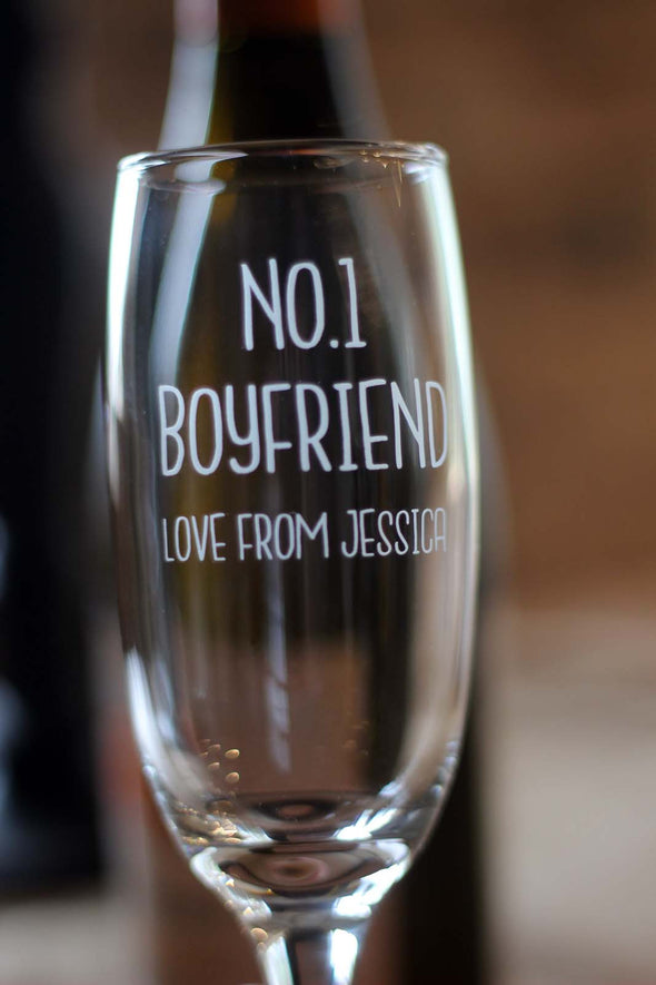 Personalised Engraved Champagne Wine Glass - PersonalisedGoodies.co.uk