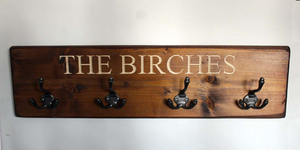 Personalised Vintage Coat Hook