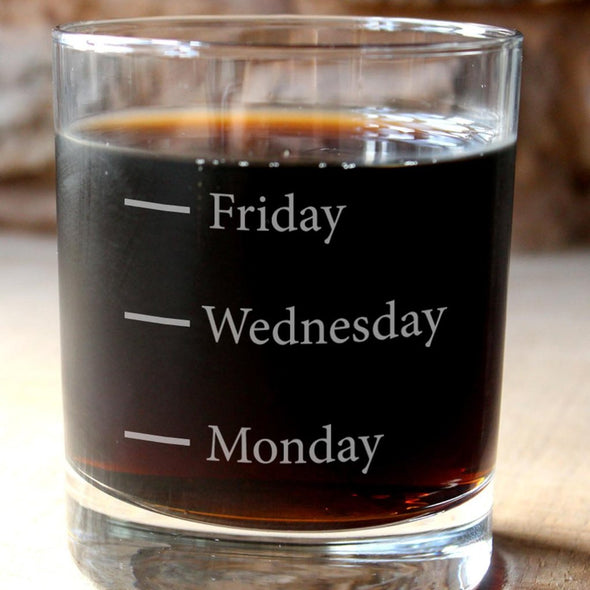 Days of the Week Whisky Tumbler