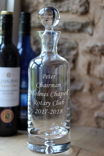 Personalised 750ml Krosno Glass Decanter