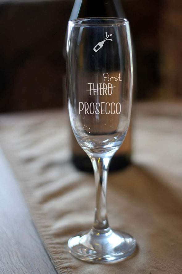 Personalised Engraved Prosecco Wine Glass - PersonalisedGoodies.co.uk