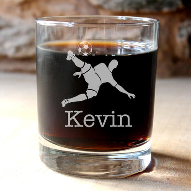 Personalised Football Scoring Glass Tumbler