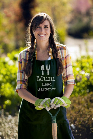 Personalised Garden Apron Head Gardener design