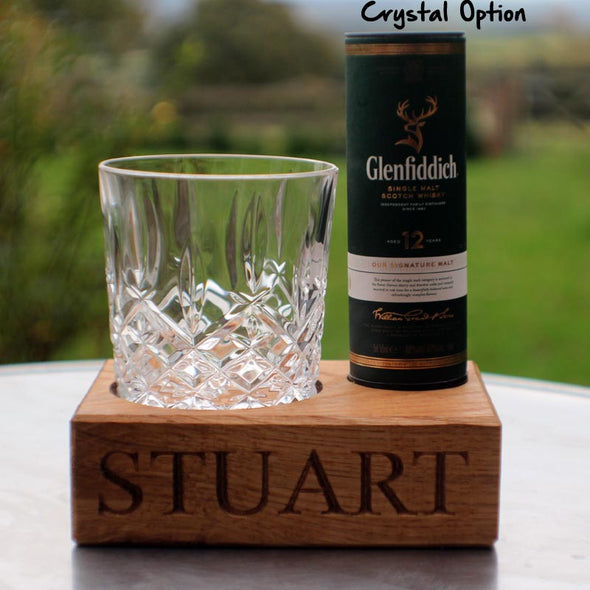 Personalised whisky tumbler with Glenfiddich