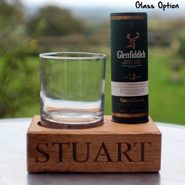 Personalised whisky glass tumbler with Glenfiddich