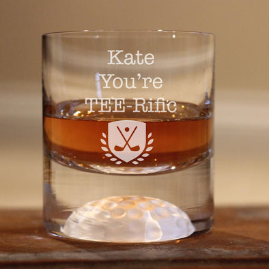 Personalised Golf Whisky Tumbler - TEE-Rific Golfer!!