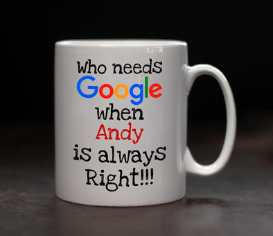Personalised Google Mug - PersonalisedGoodies.co.uk