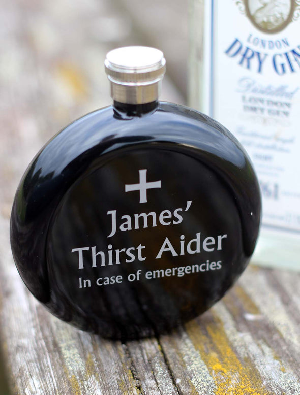Personaliesd Hip flask with optional gift box