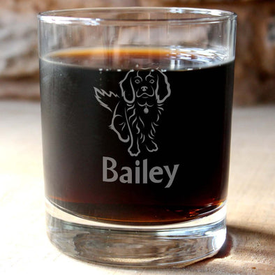 Personalised King Charles Spaniel Whisky Tumbler - PersonalisedGoodies.co.uk