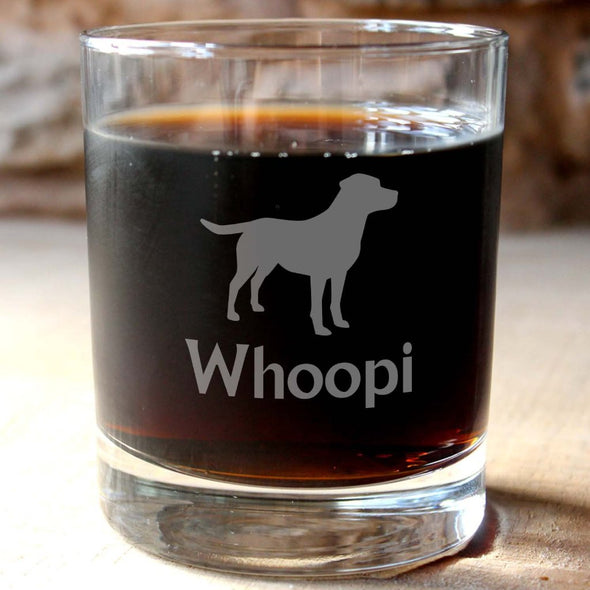 Personalised Labrador Whisky Tumbler - PersonalisedGoodies.co.uk