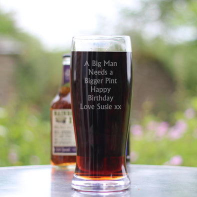 HUGE Personalised TWO Pint Beer Glass