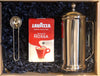 Personalised 4 cup Stainless Steel Cafetiere with Lavazza coffee set