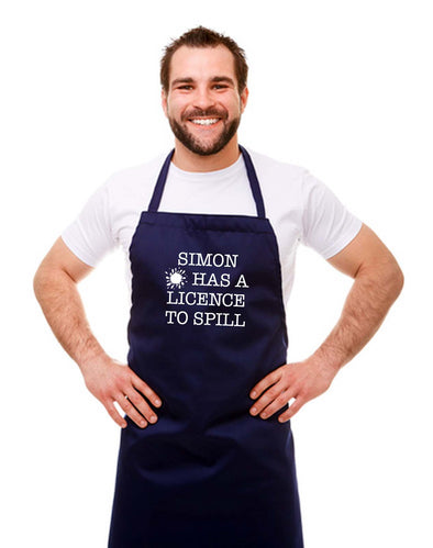 Personalised Licence to Spill Chef Apron