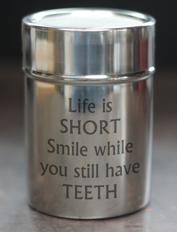 Life is Short Chocolate Shaker - PersonalisedGoodies.co.uk