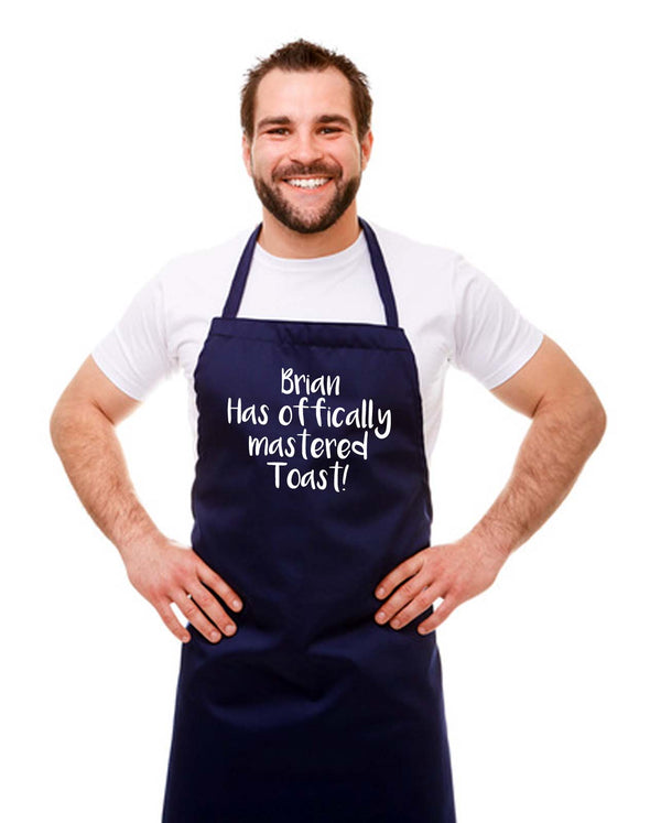 Personalised 'Mastered Toast' Kitchen Chef Apron