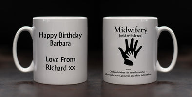 Personalised Midwife Definition Mug - PersonalisedGoodies.co.uk