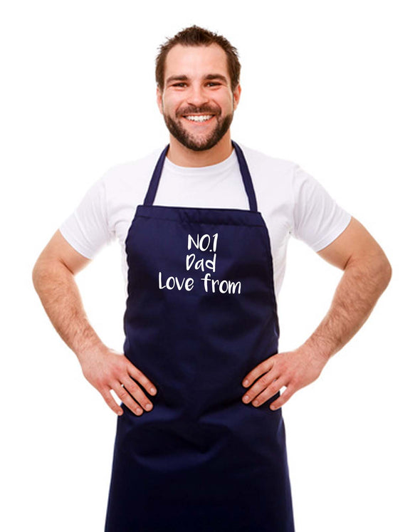 Personalised No.1 Dad Kitchen Chef Apron