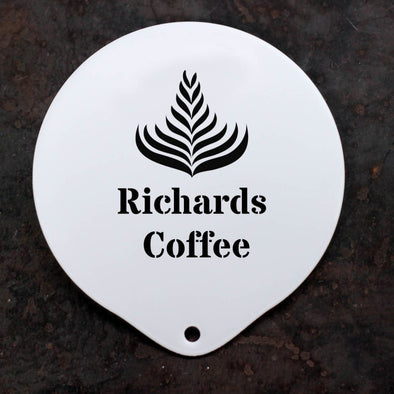 Personalised Latte Art Stencil Message - PersonalisedGoodies.co.uk